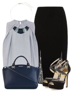 """work wear"" by larycao ❤ liked on Polyvore featuring River Island and Alexis Bittar"