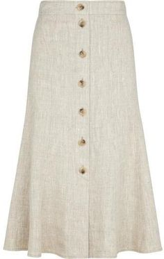 Shop for CC Natural Linen Skirt at ShopStyle. Long Skirt Outfits, Cool Outfits, Casual Outfits, Fashion Outfits, Fashion Skirts, Skirt Pants, Midi Skirt, Denim Skirt, Tailored Coat