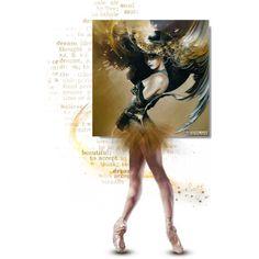 Golden Ballerina, created by necyluv.polyvore.com