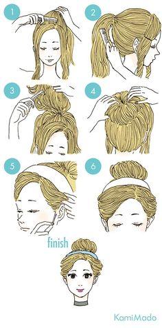 cabelo estilo princesa - http://passaneura.com/cabelos/50-penteados-para-fazer-sozinha/