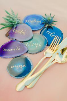 A group of Santorini wedding vendors came together to celebrate the beginning of wedding season with cocktails, floral crowns and jewel toned geode designs! Creative Wedding Cakes, Unique Wedding Favors, Wedding Vendors, Wedding Blog, Our Wedding, Dream Wedding, Wedding Ideas, Wedding Stuff, Wedding Proposals