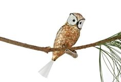 "5"" Nightwatch Owl Ornament, Gold.     #WoodlandChristmas"