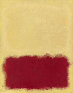Mark Rothko -Untitled, 1958. Oil on paper mounted on canvas