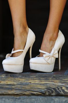 Bow Down To Me Heels  Ivory  0a8843afb4c0c