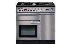This stainless steel range cooker from Rangemaster has 2 fan ovens, a separate grill, a 5 zone induction hob, a main multifunctional oven and catalytic liners. Induction Range Cooker, Electric Range Cookers, Dual Fuel Range Cookers, Electric Cooker, Electric Oven, Gas Cookers, Brisbane