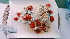 Mozzarella - Hähnchen in Basilikum - Sahnesauce, ein schmackhaftes Rezept aus der Kategorie Schnell und einfach. Bewertungen: 1.635. Durchschnitt: Ø 4,7.