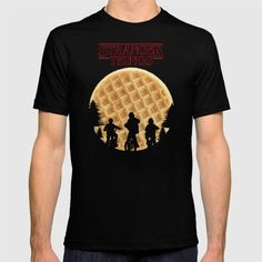 Stranger Things Waffle Moon Shirt ~ $24 Stranger Things Gifts, Eggo Waffles, Nose Bleeds, Moon Shirt, Casual Looks, Fan, Activities, My Style, Mens Tops