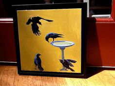 The Bad Boys a gathering of Crows by JordanOils on Etsy, $400.00
