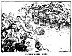 Cartoon by Illingworth on the Marshall Plan and the difficulties of unifying Western Europe (8 March 1948)