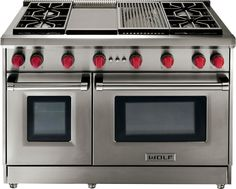 Wolf Gr486g 48 Inch Pro Style Gas Range With 6 Dual Stacked Sealed Burners