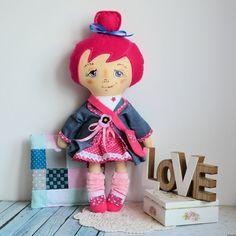 Lala Jadzia ( 42 cm ) zestaw ubranek plus poduszka Harajuku, Dolls, Pink, Style, Baby Dolls, Swag, Puppet, Doll, Pink Hair