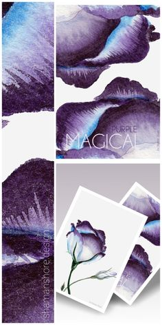 Watercolor Printable Art, Watercolor Print Purple Tulip, Wall Decor Purple and White, Wall Décor Flowers Watercolor, Wall Décor Floral Tulip Art Print, Digital Download, Acuarela Imprimible