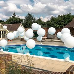 """Pool balloons, pool party - Pool balloons, pool party """" Pool balloons, pool party Best Picture For trends shirts For Your T - Sommer Pool Party, Backyard Pool Parties, Boy Pool Parties, Backyard Wedding Pool, White Party Decorations, Pool Wedding Decorations, Swimming Pool Decorations, Pool Party Themes, Party Ideas"""