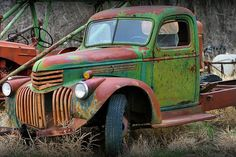 Farm Trucks, Old Trucks, Pickup Trucks, Wabi Sabi, Abandoned Cars, Abandoned Vehicles, Old Pickup, Rusty Cars, Truck Art