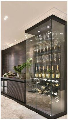 Interior Design Blogs, Home Wine Cellars, Table Cafe, Home Bar Designs, Wine Wall, Wine Storage, Storage Area, Storage Design, Kitchen Storage