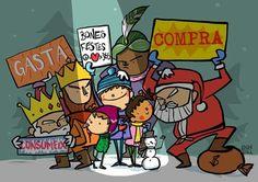 Joan Turu. Festes de Nadal. Doodle Icon, Turu, Cute Doodles, Comic Books, Comics, Reading, Illustration, Cover, Quotes