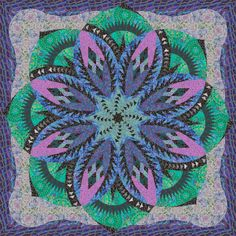 Check out this original color-way designed by Lynda L. Sign up on www.quiltster.com to create your own.