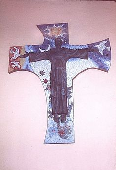 Catholic Artists | created by Enrique de la Vega via Melanie Jean Juneau ~~ beautiful Franciscan Cross