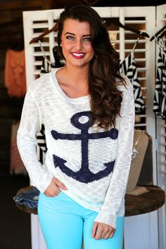 Sea Side Anchor {Knit}