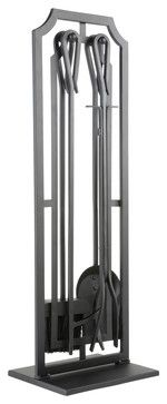 Style Selections 5-Piece Mitchell Metal Fireplace Tool Set - traditional - fireplace accessories - Lowe's