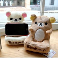 Cute and Soft Rilakkuma Bear Mobile Desk Holder Iphone cell phone Organizer