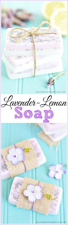 Homemade Lavender Lemon Soap - Mother's Day Gifts | A Pumpkin and a Princess