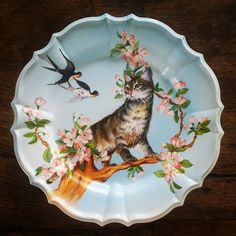 Vintage Cats Plates by Verymelicious on Etsy, €35.00