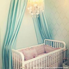 HLN suggests great ideas for decorating the Royal Nursery and feature a beauty with our Ribbon Lattice Stencil! http://www.hlntv.com/slideshow/2013/07/10/royal-baby-nursery-william-kate-prince-princess-cambridge