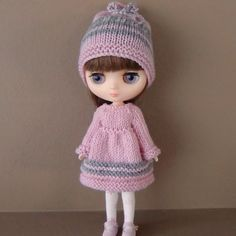 MOTHER'S DAY SALE  Pink and Grey Knitted Dress Hat by myfairdolly, $16.00