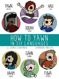 I think yawn is the English sound? It's either that or HURRRRRRRRRGGGGGGGHHHHH