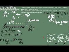 Razón de cambio parte 7 (avión y láser)