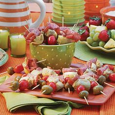 #Antipasto on a stick, the Italian Skewers via @southernliving! // MyRecipes.com- #EasyAppetizer