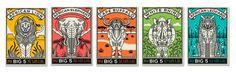 Big 5 Postcards on Behance