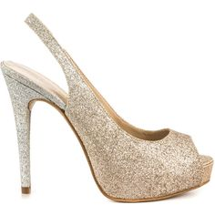 Guess Footwear Women's Aerran - Gold Multi Texture ($65) ❤ liked on Polyvore featuring shoes, pumps, heels.com, black, high heel pumps, gold shoes, women shoes, black peep toe pumps and famous footwear