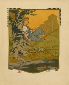 623: GUSTAVE BAUMANN - Original color woodcut : Lot 623