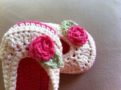 Crochet Baby Girl Ballet Flats by BettyBoopCrochet on Etsy, $20.00