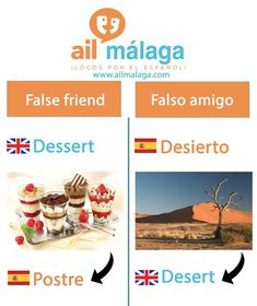 Even if #Spanish and #English words sound similar, they don't always have the same meaning! ;-) #falsefriend #Spanishvocab #learnSpanish #Spanishschool