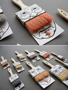 We love this packaging design - let's just hope they don't ever make a 'toothbrush' design; it may look a bit like Hitler. #Innovation #Design