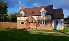 Worcestershire Cottage - Border Oak - oak framed houses, oak framed garages and structures. Border Oak, Oak Framed Buildings, Oak Frame House, Self Build Houses, Brick Arch, Grand Designs, Kit Homes, New Builds, Bungalow