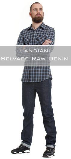 Massgeschneiderte Jeans mit einem Selvedge Raw Denim aus Italien.  98% Baumwolle, 2% Elasthan 10 oz (leicht) Twill Raw Denim, Jeans, Fit, Button, Italy, Cotton, Leather, Shape, Green Jeans