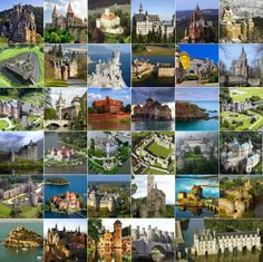 35 Castles in the world - View all at > http://destinations-for-travelers.blogspot.com.br/2013/11/castles-in-the-world-castelos-pelo-mundo-castillos-en-el-mundo.html #castle #castelo