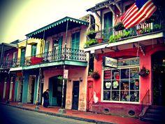 Façades colorées : La Nouvelle-Orléans, Quartier français