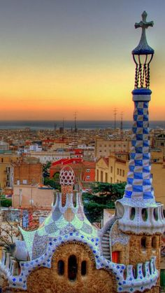Barcelona, Spain - Museum dedicated to Picasso's early works. gorgeous Gaudi architecture. Look at that spire!