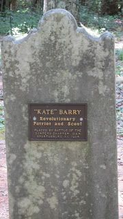 Tombstone of Kate Barry, Revolutionary War patriot and spy.