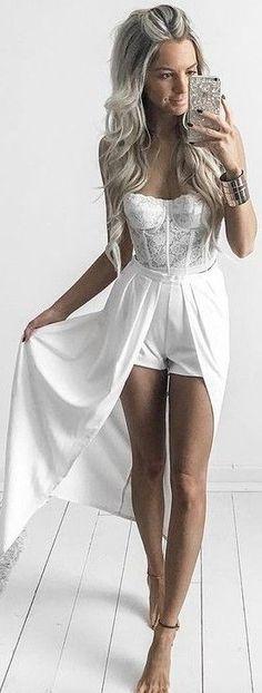 White Maxi Shorts                                                                             Source