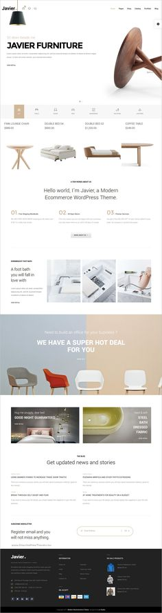 Javier is modern and elegant design responsive @WooCommerce #WordPress theme for awesome #furniture store eCommerce websites with 10+ multipurpose homepage layouts download now➩ https://themeforest.net/item/javier-modern-woocommerce-theme/18968725?ref=Datasata