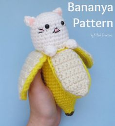 So I made an entire pattern in one livestream! Someone suggested I make a Bananya, so here is what I came up with! You can use the same pattern with different colors to make the whole Bananya famil…