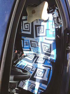 Cobertores de asiento para el carro DIY