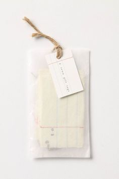 Love the glassine envelope packaging!