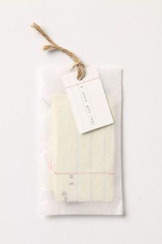 Love the glassine envelope packaging!
